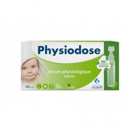 PHYSIODOSE SERUM PHYSIOLOGIQUE STERILE 100% D'ORIGINE VEGETAL 40X5ML