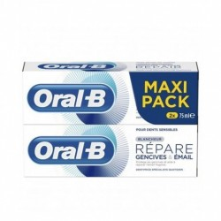 ORAL-B REPARE GENCIVES & EMAIL BLANCHEUR LOT 2X 75ML
