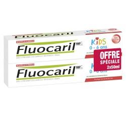 FLUOCARIL KIDS 0-6ANS GEL FRAISE LOT 2X 50ML
