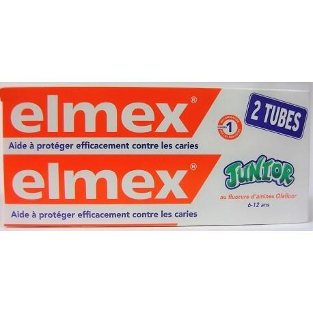 ELMEX JUNIOR 6-12 ANS LOT 2X 75ML