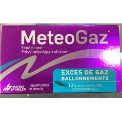 METEOGAZ EXCES DE GAZ BALLONNEMENTS 10 STICKS POUDRE