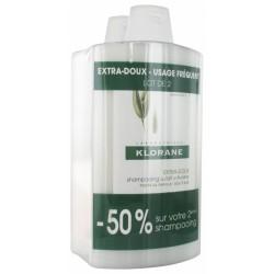 KLORANE-Shampooing-extra-doux-au-lait-d'avoine-400ml-X2