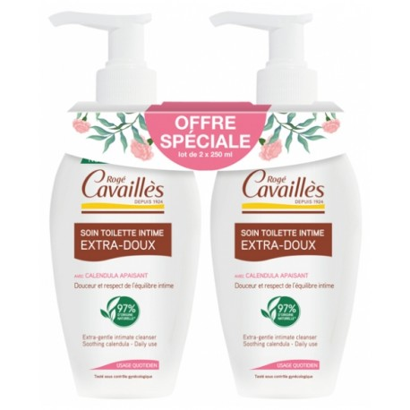 ROGE CAVAILLES SOIN TOILETTE INTIME EXTRA-DOUX LOT 2X 250ML