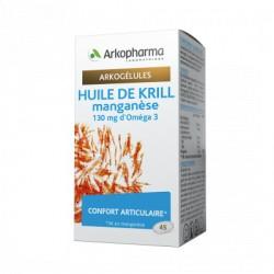 ARKOPHARMA HUILE DE KRILL MANGANESE CONFORT ARTICULAIRE 45 GELULES