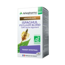 ARKOPHARMA ISPAGHUL MUCIVITAL BIO 1290MG DE TEGUMENT TRANSIT INTESTINAL 45CP