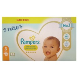 PAMPERS PREMIUM PROTECTION TAILLE 3 6-10KG 102 COUCHES