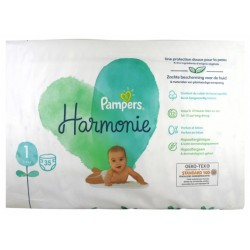PAMPERS HARMONIE TAILLE 1 2-5KG 35 COUCHES