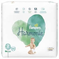PAMPERS HARMONIE TAILLE 2 4-8KG 86 COUCHES