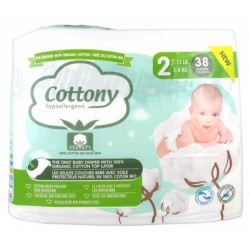 COTTONY HYPOALLERGENIQUE TAILLE 2 3-6KG 38 COUCHES