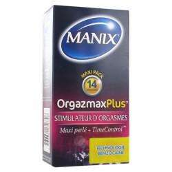MANIX ORGAZMAX PLUS 14 PRESERVATIFS