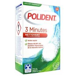POLIDENT 3 MINUTES NETTOYANT POUR APPAREILS OU PROTHESES DENTAIRES 66 CP