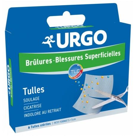 URGO TULLES BRULURES BLESSURES SUPERFICIELLES 6 TULLES STERILES