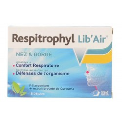 RESPITROPHYL LIB' AIR NEZ & GORGE 15 GELULES