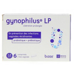GYNOPHILUS LP PROBIOTIQUE + PREBIOTIQUE 6CP VAGINAUX