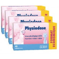 PHYSIODOSE Sérum physiologique lot de 4x40 unidoses